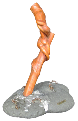 sculpture representing sinuous woman